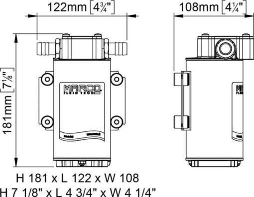 Marco UP6-RK Kit reversible Pumpe 26 l/min mit Paneel (12-24 Volt) 8