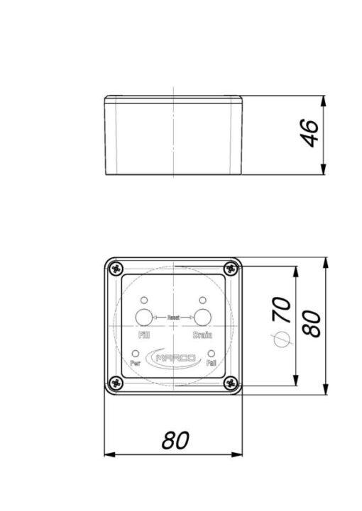 Marco UP3-RK Kit reversible Pumpe 15 l/min mit Paneel (12-24 Volt) 8