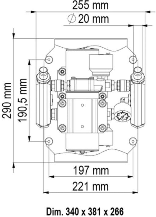 Marco UP66/E-DX Elektronische Druckwasseranlage 66 l/min 6