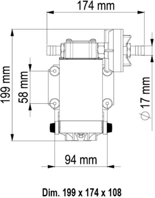 Marco UP6 Pumpe mit Bronzezahnrädern 26 l/min (12 Volt) 6