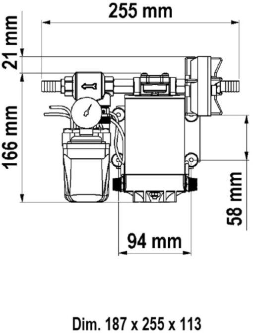 Marco UP9/A Automatische Druckwasserpumpe mit Druckwächter 12 l/min (12 Volt) 4