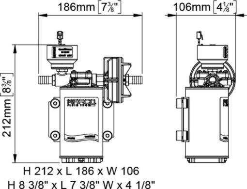 Marco UP9/E-BR 12/24V Elektronische Pumpe mit Bronzezahnräder 12 l/min 7