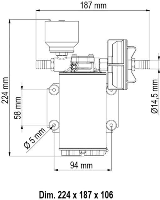 Marco UP9/E Elektronische Süßwasserpumpe 12 l/min 5