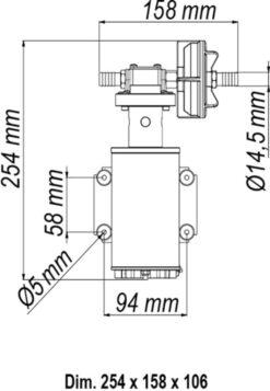 Marco UP9-HD Pumpe für Dauerbelastung mit Flansch 12 l/min (24 Volt) 9