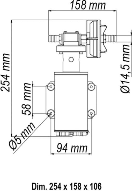 Marco UP9-HD Pumpe für Dauerbelastung mit Flansch 12 l/min (24 Volt) 6