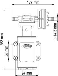 Marco UP9-XA Pumpe für Unkrautvernichtungsmittel 12 l/min - AISI 316 L - FKM (Viton) Dichtungen (24 Volt) 9