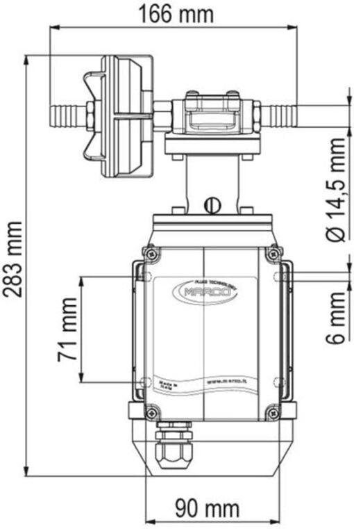 Marco UPX/AC Zahnradpumpe aus Edelstahl 10 l/min AISI 316 L (220 Volt) 6