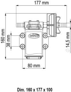 Marco UPX Zahnradpumpe 15 l/min Edelstahl AISI 316 L (24 Volt) 9