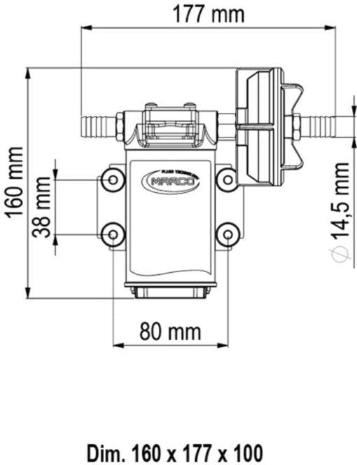 Marco UPX Zahnradpumpe 15 l/min Edelstahl AISI 316 L (24 Volt) 6