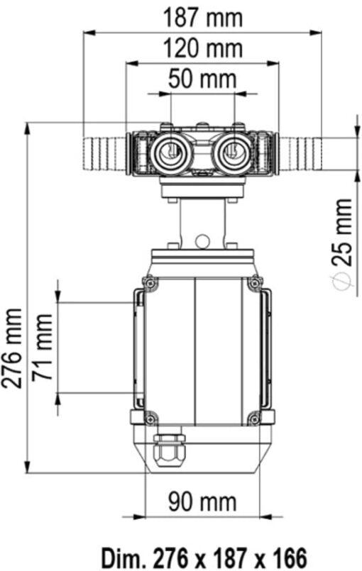 Marco VP45/AC 220 V 50 Hz Schaufelpumpe 35 l/min 6