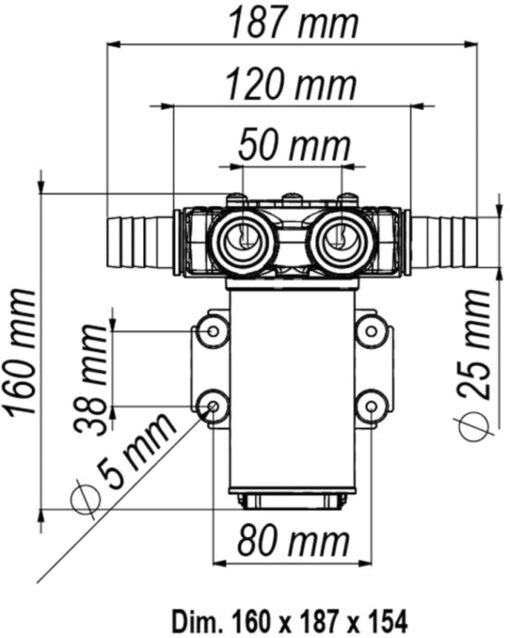 Marco VP45-N Schaufelpumpe 45 l/min (12 Volt) 6