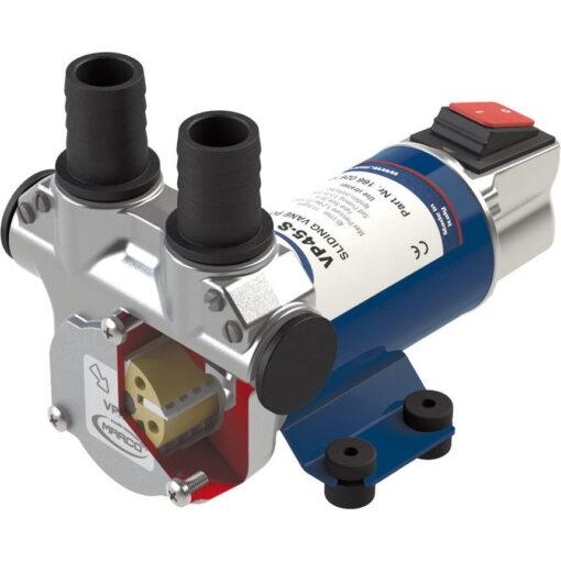 Marco VP45-S Schaufelpumpe mit integriertem on/off Schalter 45 l/min (24 Volt) 3