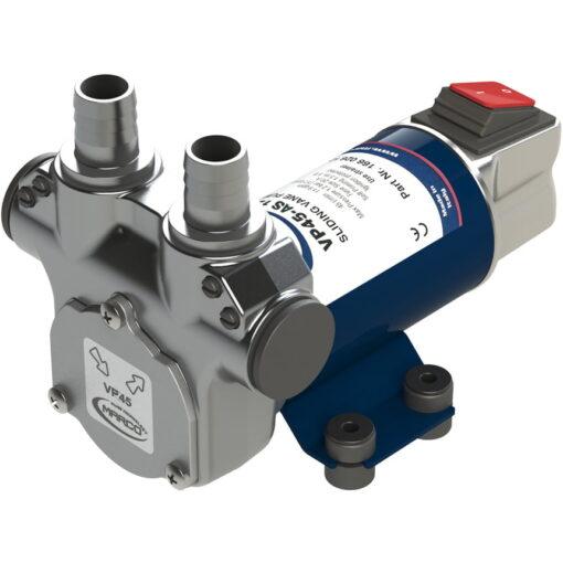 Marco VP45A-S Schaufelpumpe mit integriertem on/off Schalter 45 l/min, Messing Verb. (12 Volt) 3