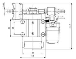 Marco DP12 Kit Deckwaschpumpe 5 bar (24 Volt) 8