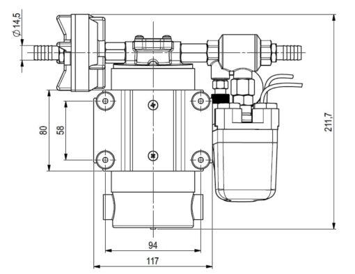 Marco DP12 Kit Deckwaschpumpe 5 bar (24 Volt) 4