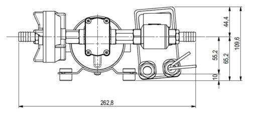 Marco DP12 Kit Deckwaschpumpe 5 bar (24 Volt) 6