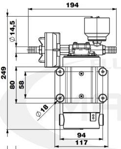 Marco DP12/E Deckwaschpumpe mit elektronischer Kontrolle 5 bar 10