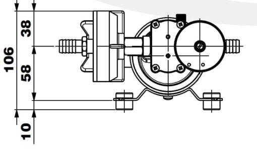 Marco DP12/E Deckwaschpumpe mit elektronischer Kontrolle 5 bar 7