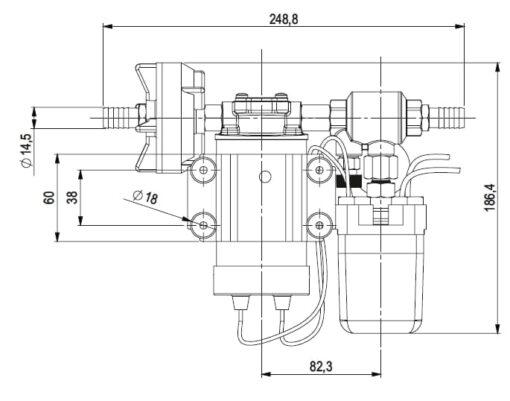 Marco DP3 Kit Deckwaschpumpe 3 bar (24 Volt) 4