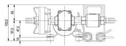Marco DP3 Kit Deckwaschpumpe 3 bar (24 Volt) 11