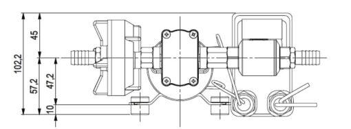 Marco DP3 Kit Deckwaschpumpe 3 bar (24 Volt) 7