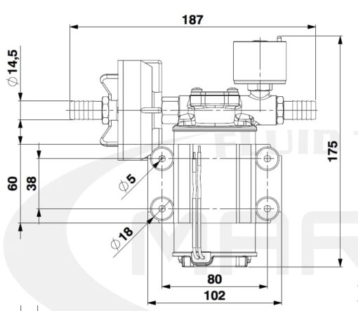 Marco DP3/E Deckwaschpumpe mit elektronischer Kontrolle 3 bar 4