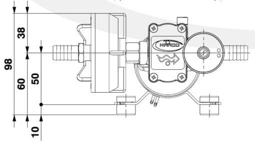 Marco DP3/E Deckwaschpumpe mit elektronischer Kontrolle 3 bar 5