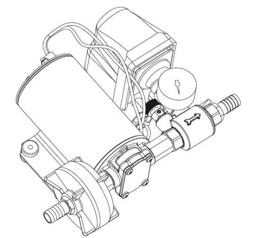 Marco DP9 Kit Deckwaschpumpe 4 bar (24 Volt) 4