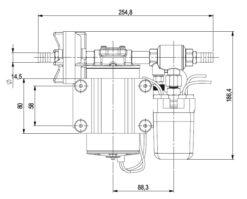 Marco DP9 Kit Deckwaschpumpe 4 bar (24 Volt) 11