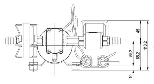 Marco DP9 Kit Deckwaschpumpe 4 bar (24 Volt) 6