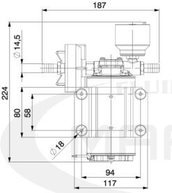 Marco DP9/E Deckwaschpumpe mit elektronischer Kontrolle 4 bar 11