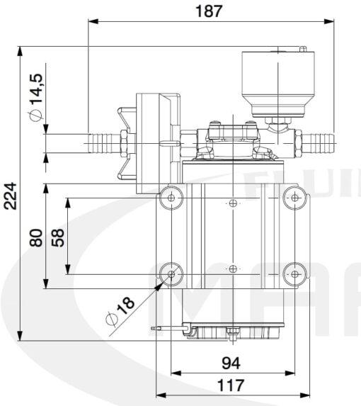 Marco DP9/E Deckwaschpumpe mit elektronischer Kontrolle 4 bar 7