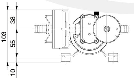 Marco DP9/E Deckwaschpumpe mit elektronischer Kontrolle 4 bar 5