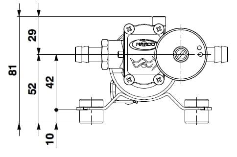 Marco SP2 Duschkit - Elektropumpe mit elektronischer Kontrollfunktion 2 bar 4