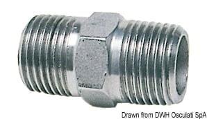 """Doppelnippel VA-Stahl 1"""" - Packung á 1 St. 3"""