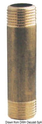 """Verlängerungsstück aus Messing 3/4"""" x 60 mm - Packung á 1 St. 3"""