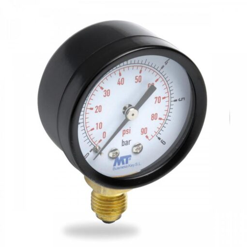 Rohrfedermanometer50 mm unten / hinten 2,5-4-6-10-16 bar 2