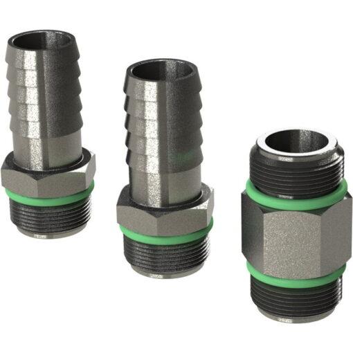 "Marco Ersatzteile R6400101 - R-KIT hosefittings + nipple 3/8"" s/steel BSP (VITON 2056 O-Ring, hose ø13 mm) 3"