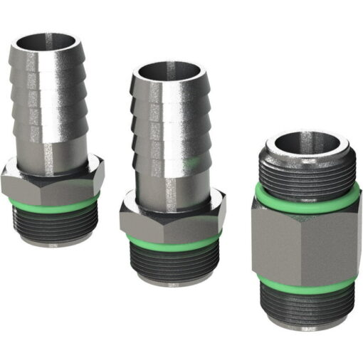 "Marco Ersatzteile R6400110 - R-KIT brass hosefittings + long nipple 3/8"" BSP (VITON 2056 O-Ring, hose ø13 mm) 3"