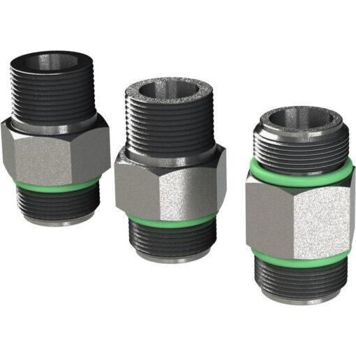 "Marco Ersatzteile R6400111 - R-KIT 3/8"" BSP-3/8"" NPT brass fittings+ 3/8'' long BSP nipple (VITON 2056 O-Ring, hose ø13 mm) 3"